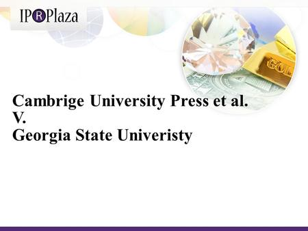 Cambrige University Press et al. V. Georgia State Univeristy.
