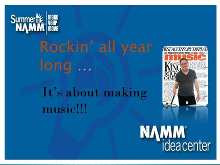 Rockin' all year long … It's about making music!!!