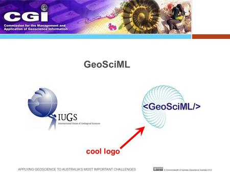 GeoSciML cool logo. GeoSciML v3.0 – the CGI-IUGS geoscience data model I nternational U nion of G eological S ciences C ommission for the Management and.