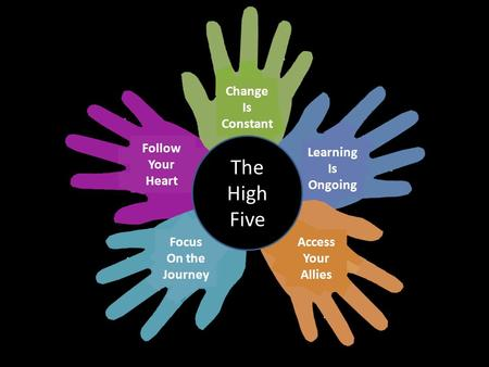 The High Five Change Is Constant Learning Ongoing Access Your Allies