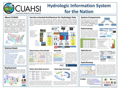 About CUAHSI The Consortium of Universities for the Advancement of Hydrologic Science, Inc. (CUAHSI) is an organization representing 120+ universities.