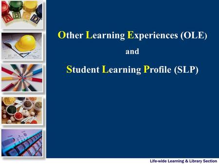 O ther L earning E xperiences (OLE ) and S tudent L earning P rofile (SLP)