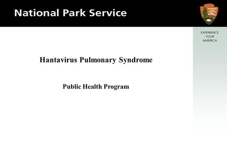 Hantavirus Pulmonary Syndrome Public Health Program.