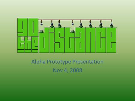 Alpha Prototype Presentation Nov 4, 2008. Today's Presentation: System Schematic Review Materials Analysis Materials Processing Tube Fabrication Joints.