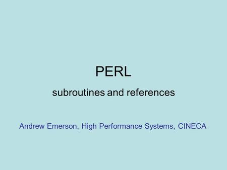 subroutines and references