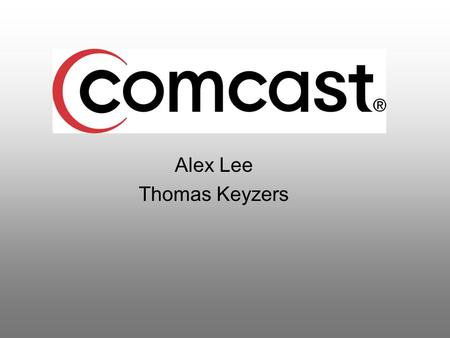 Alex Lee Thomas Keyzers. History background Comcast was founded in 1963 by Ralph J. Roberts, Daniel Aaron, and Julian A. Brodsky. The company was incorporated.