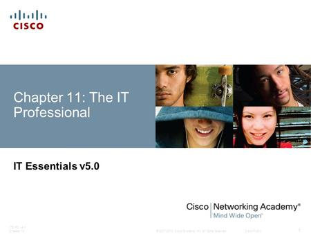 © 2007-2010 Cisco Systems, Inc. All rights reserved. Cisco Public ITE PC v4.1 Chapter 10 1 Chapter 11: The IT Professional IT Essentials v5.0.