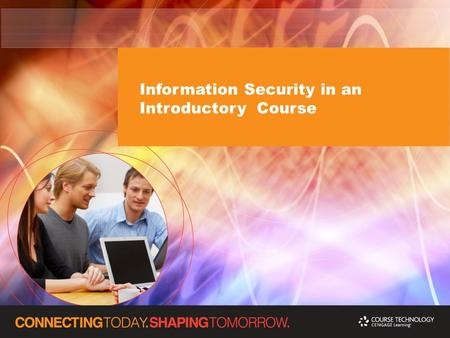 Information Security in an Introductory Course. Introduction Kathy Winters University of Tennessee at Chattanooga Department of Computer Science and Engineering.