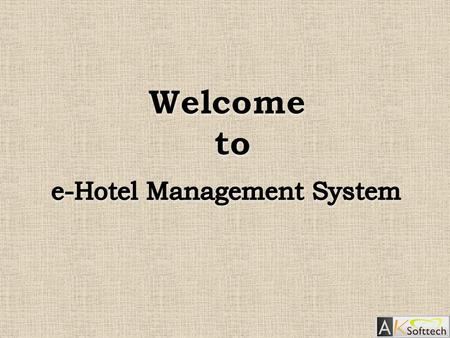 "1. Introduction  This Web based application is mainly developed for hotels to maintain the various departments to serve their main motive ""Customer Satisfaction""."