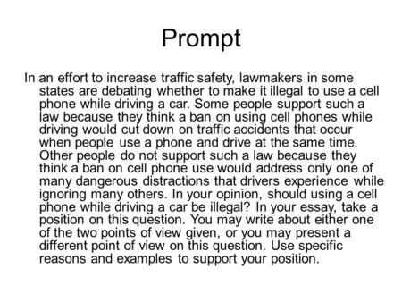 Cell phones and driving argument essay