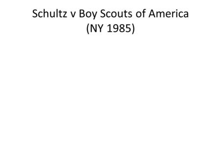 "Schultz v Boy Scouts of America (NY 1985). ""The three reasons most often urged in support of applying the law of the forum-locus in cases such as this."