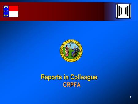 Reports in Colleague CRPFA