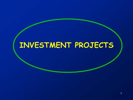 1 INVESTMENT PROJECTS. 2 Contents  Investment projects and company value  Discussion of course participant experiences with investment projects  Summary.