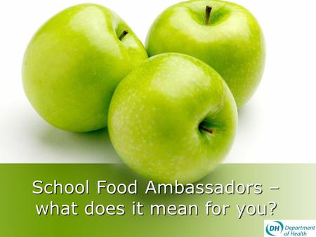 School Food Ambassadors – what does it mean for you?