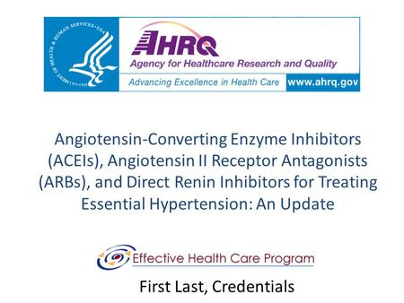 Angiotensin-Converting Enzyme Inhibitors (ACEIs), Angiotensin II Receptor Antagonists (ARBs), and Direct Renin Inhibitors for Treating Essential Hypertension:
