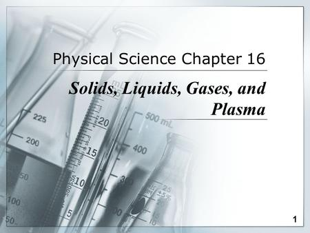 Physical Science Chapter 16