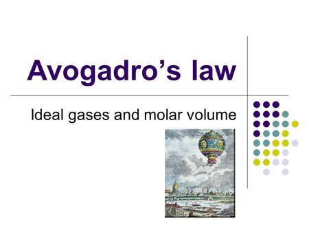 Ideal gases and molar volume