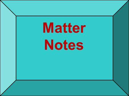 Matter Notes. What is matter ? 9/14/2015 2 Matter- anything that has mass and volume. 9/14/2015 3.