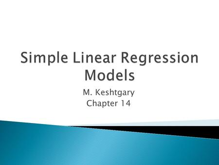 Simple Linear Regression Models