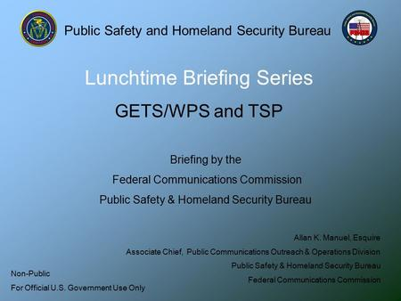 Lunchtime Briefing Series