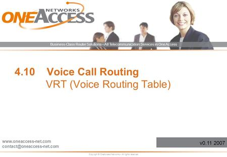 4.10 Voice Call Routing VRT (Voice Routing Table)