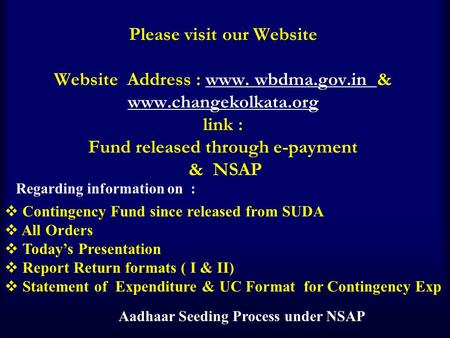 Aadhaar Seeding Process under NSAP
