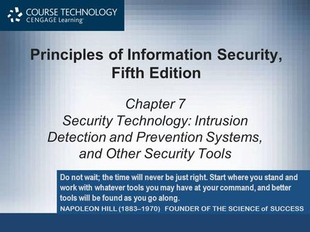 Principles of Information Security, Fifth Edition