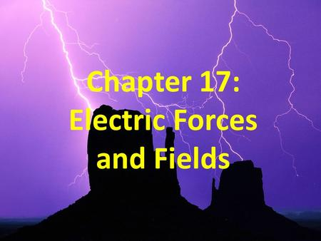 Chapter 17: Electric Forces and Fields. Objectives Understand the basic properties of electric charge. Differentiate between conductors and insulators.