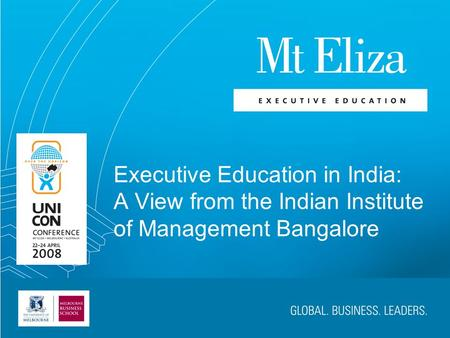 Executive Education in India: A View from the Indian Institute of Management Bangalore.