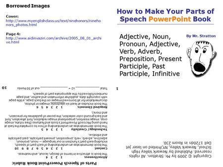 How to Make Your Parts of Speech PowerPoint Book