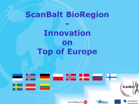 ScanBalt BioRegion - Innovation on Top of Europe.