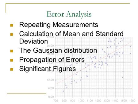 PHY131H1F Class 3 Today: Error Analysis Significant Figures Unit ...