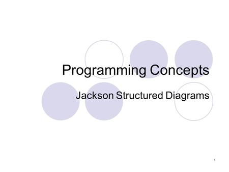 Jackson Structured Diagrams