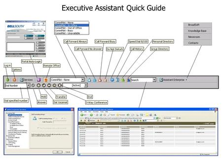Executive Assistant Quick Guide. Search The Search drop-down list enables you to search for a previously-searched user or contact directly, or specify.