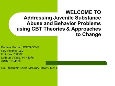 cbt for substance abuse pdf