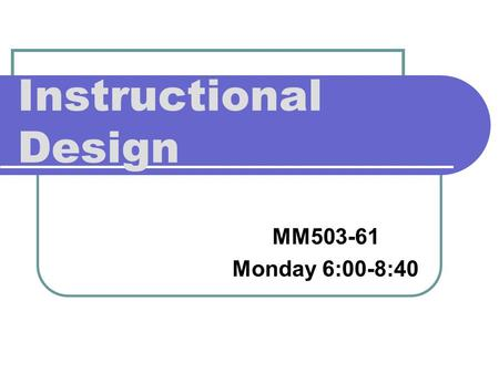 instructional design and technology definition