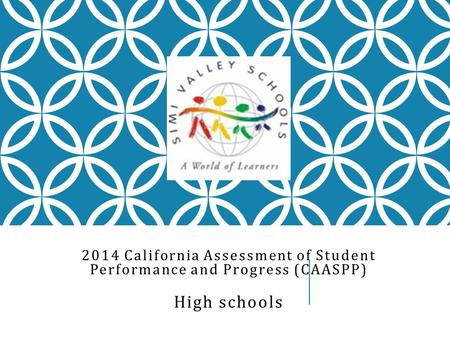 2014 California Assessment of Student Performance and Progress (CAASPP) High schools.