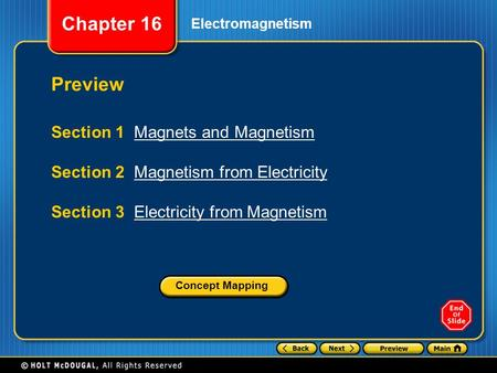 Preview Section 1 Magnets and Magnetism