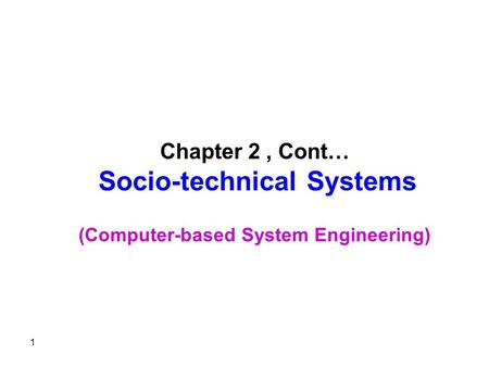 3- System modelling An architectural model presents an abstract view of the sub-systems making up a system May include major information flows between.