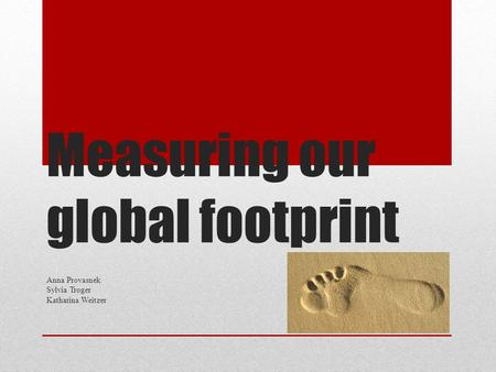 Measuring our global footprint
