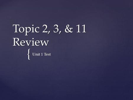 { Topic 2, 3, & 11 Review Unit 1 Test.  How do you determine the number of protons, neutrons, and electrons from isotope notation?  What is the same.