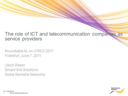 The role of ICT and telecommunication companies as service providers