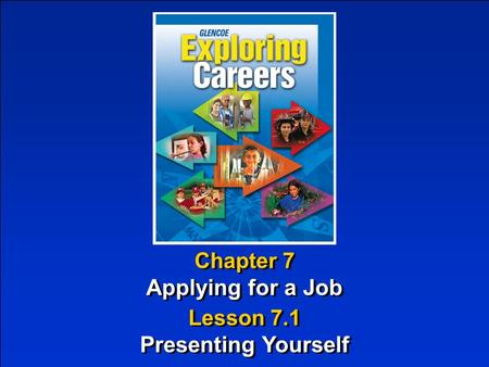Chapter 7 Applying for a Job Chapter 7 Applying for a Job Lesson 7.1 Presenting Yourself Lesson 7.1 Presenting Yourself.