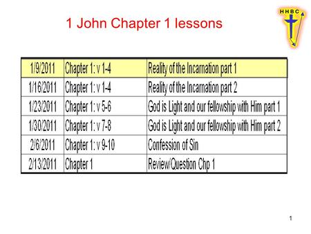 1 1 John Chapter 1 lessons. 2 1 What was from the beginning, what we have heard, what we have seen with our eyes, what we have looked at and touched with.