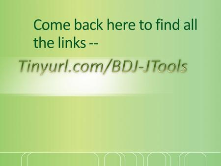 Come back here to find all the links --. Today -- How to find a job Online resources for your job hunt.