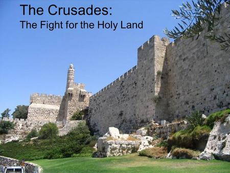 The Crusades: The Fight for the Holy Land. Why fight for Jerusalem? (A little background knowledge) Jerusalem – where is it? Proclaimed as divinely sacred.