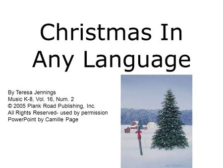 Christmas In Any Language
