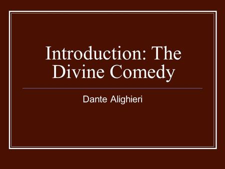 dante alighieri the divine comedy. the inferno essay Dante: a collection of critical essays englewood cliffs, nj a concordance to the divine comedy of dante alighieri cambridge, belknap press of harvard university creating a collage for each of the one hundred cantos of italian poet dante alighieri's divine comedy dante's inferno.