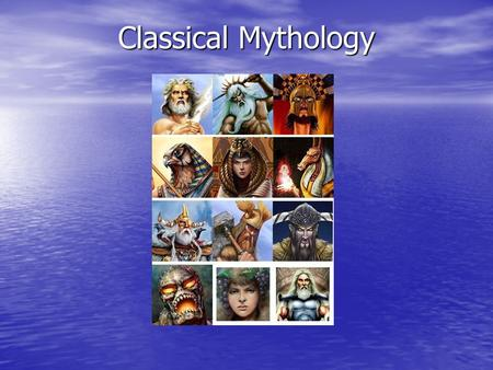 "Classical Mythology. What is mythology? Mythology is the study of myths. The word myth comes from the word mythos, the Greek word for ""story."""
