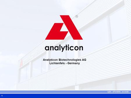 Analyticon Biotechnologies AG